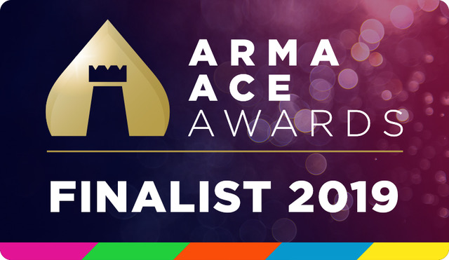 ARMA Ace Awards finalist logo 2019 Clear Building Management
